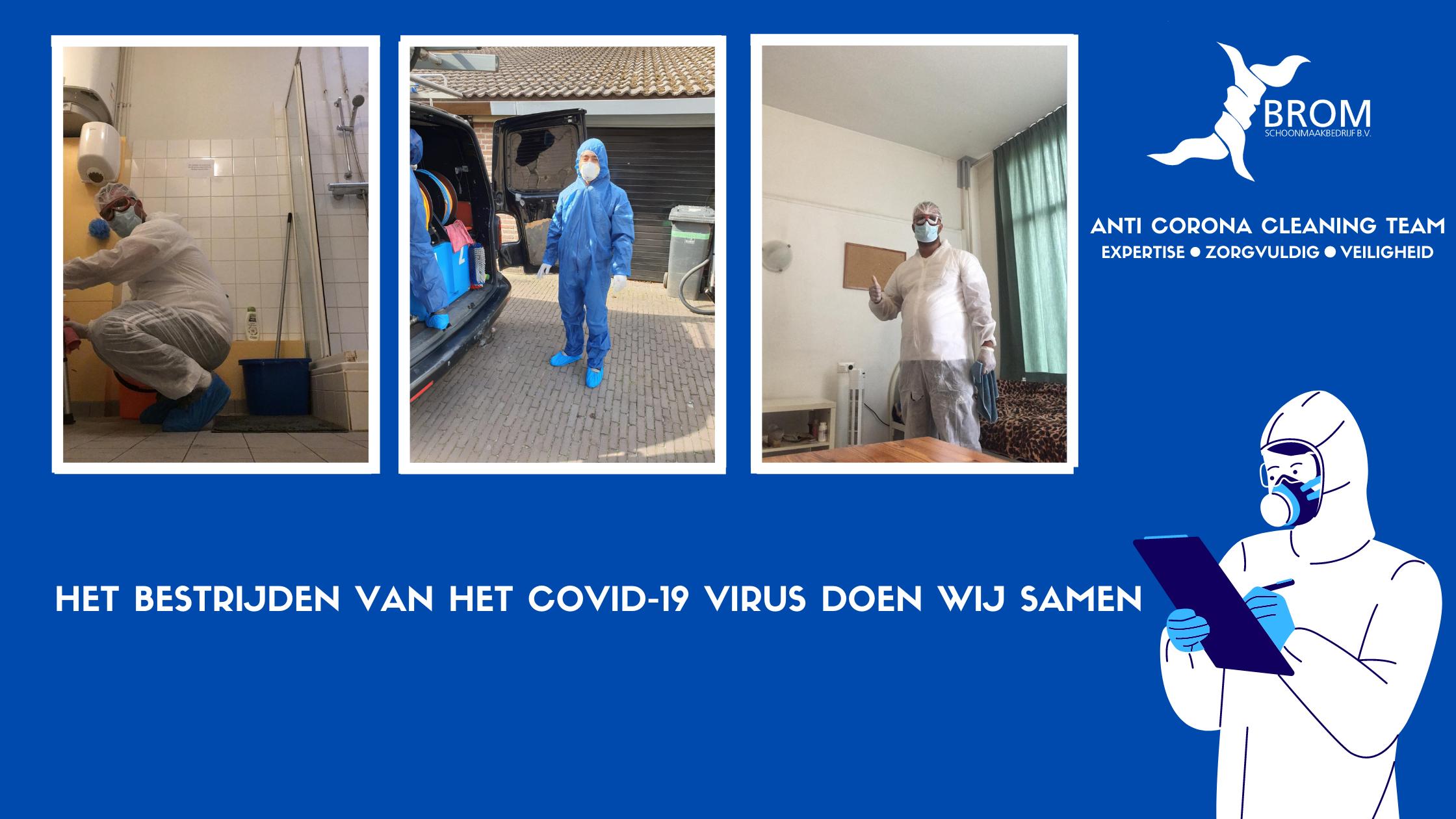 Coronavirus en Desinfectie Schoonmaak